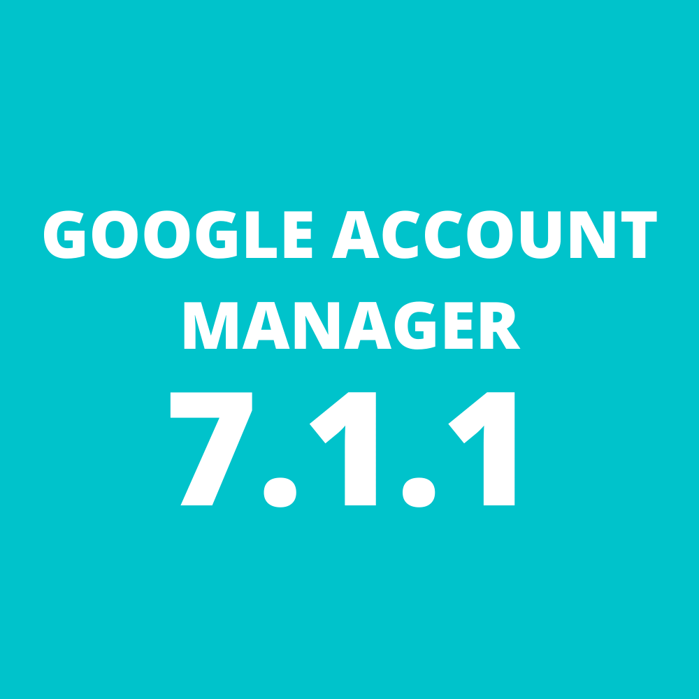 Google Account Manager 7.1.1 Apk
