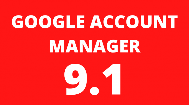 Google Account Manager 9.1 Apk