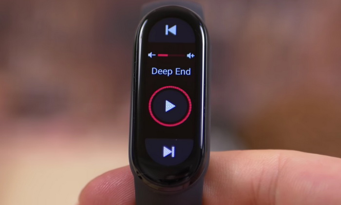 Band 6 Music Player Interface