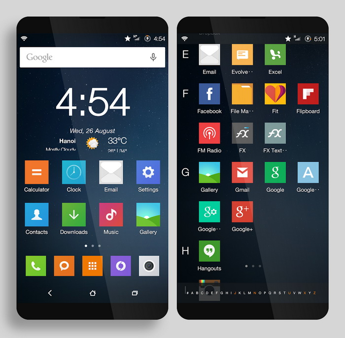 MIUI 13 widgets and icons